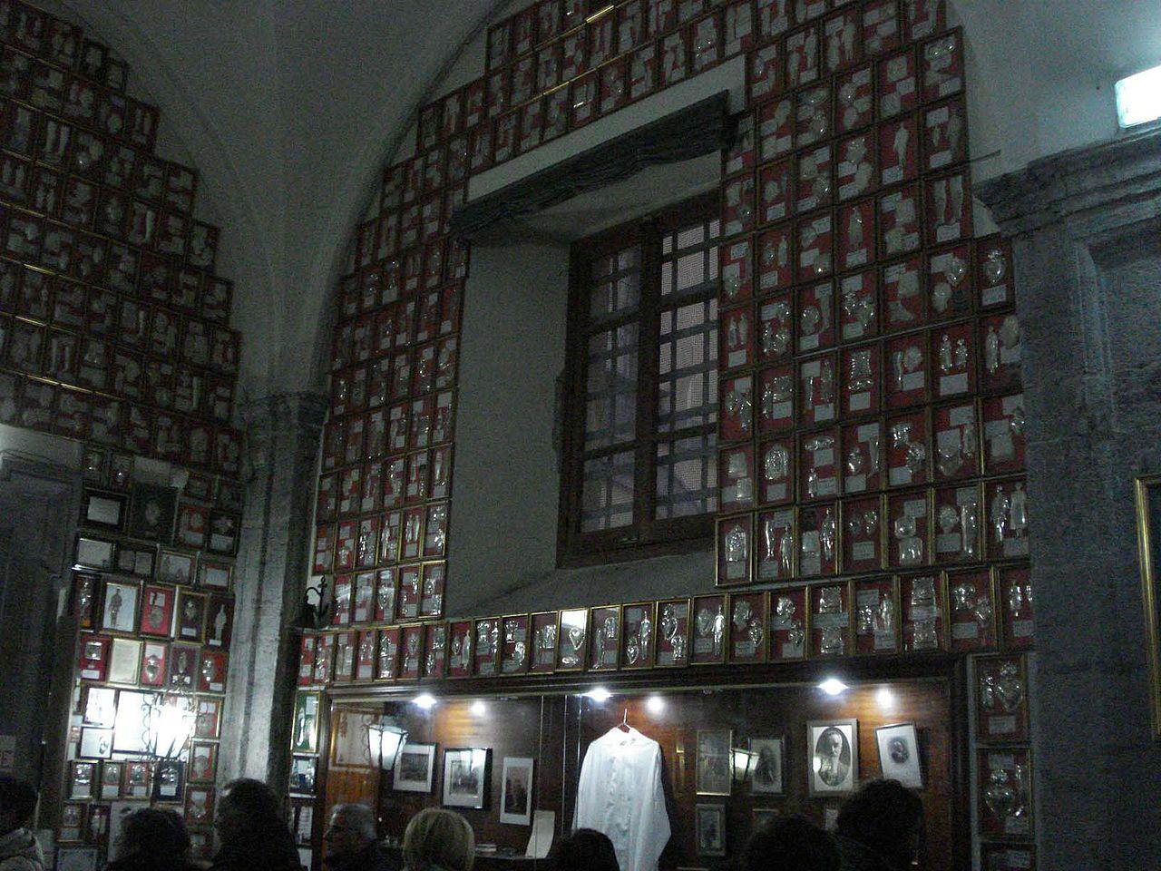 Капелла святого Джузеппе Москати с мощами многих святых